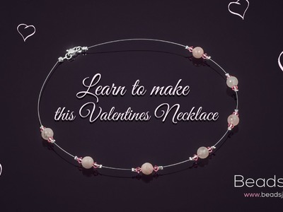 Learn how to make this Rose Quartz Valentines Necklace