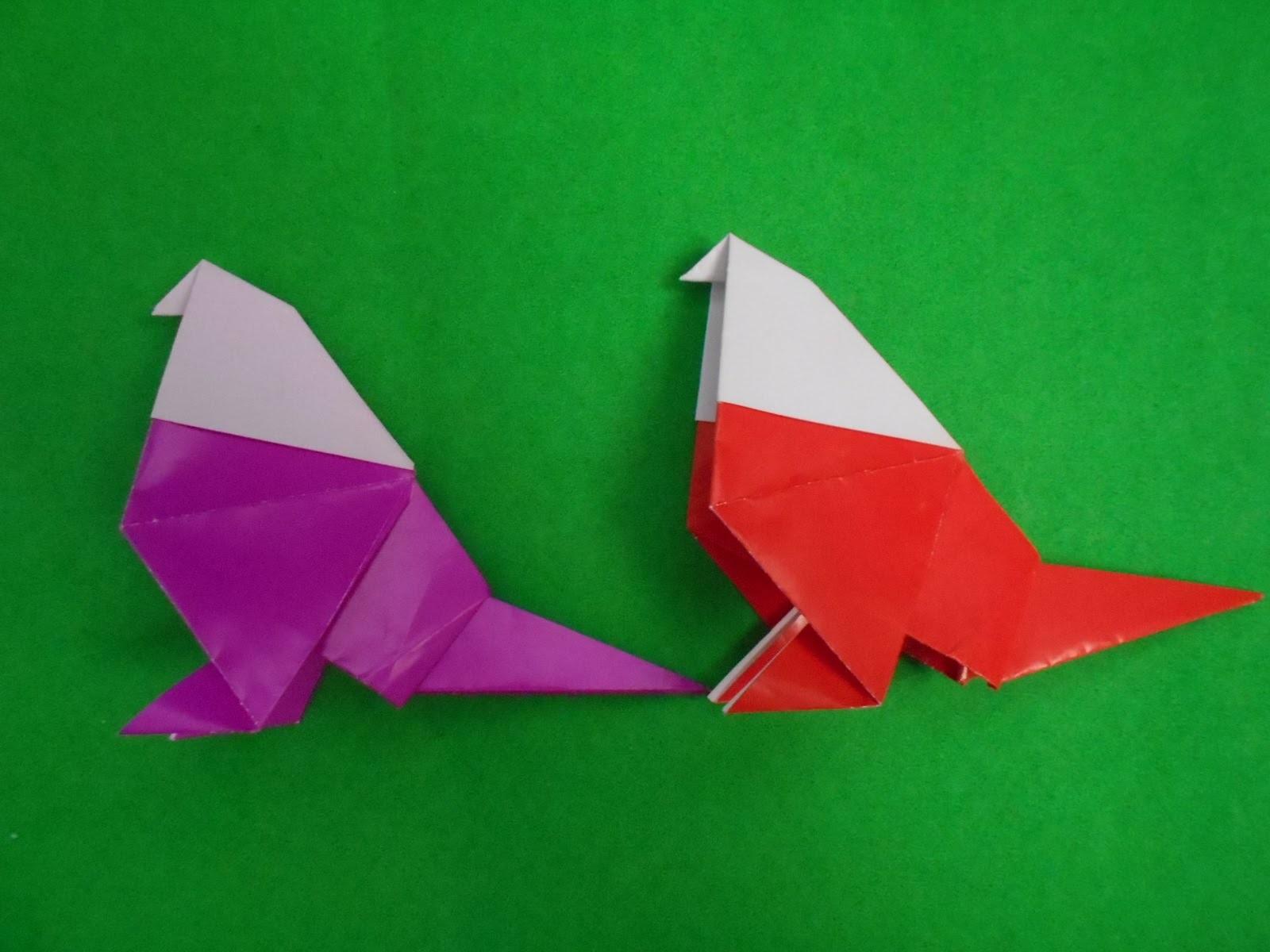 ORIGAMI ANIMALS - How To Fold Origami Dove Easy Instructions | Origami bird