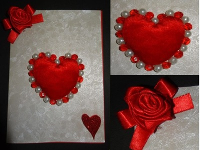 Paper Crafts: How to make a beautiful Valentine's Day heart greeting card