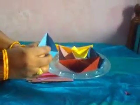 Paper Crafts Ideas - How to make a Paper Ship for beginners