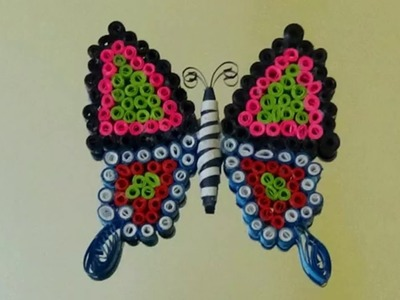Paper Quilling: Made Easy # How to make Beautiful Butterfly using Paper Quilling Art