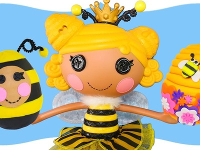 Play Doh BeeHive Surprise Eggs Lalaloopsy Royal T Honey Stripes How To Make Playdough Eggs