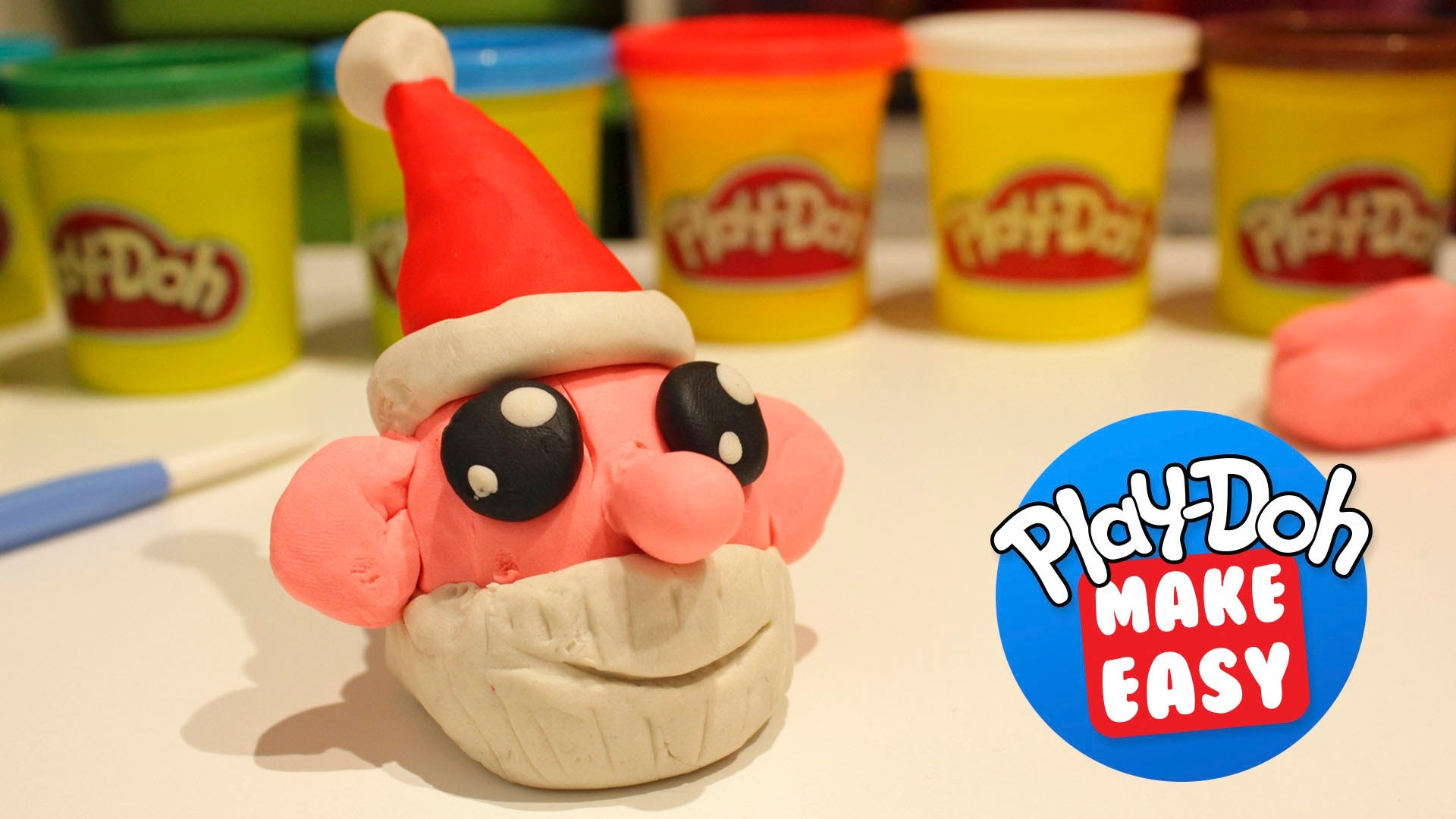 Play Doh How to Make Easy Christmas Santa Claus | Children's Toys