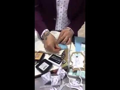 Sizzix Jen Long shows David Tutera how to make an Owl Card