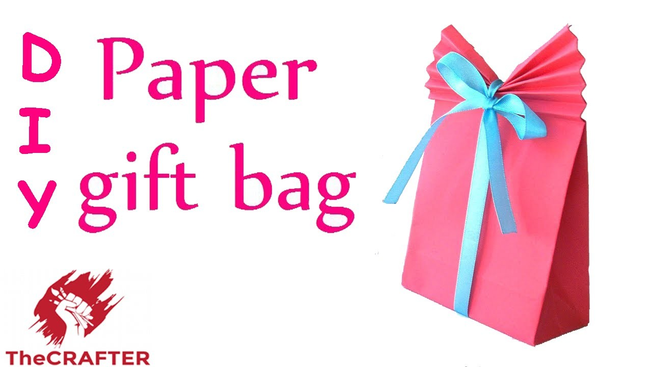 TheCRAFTER - How to make Paper GIFT BAG for XMAS (LAST MINUTE)I DIY CRAFT