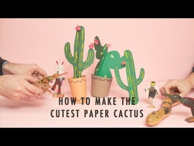A G&F Extra: How To Make the Cutest Paper Cactus