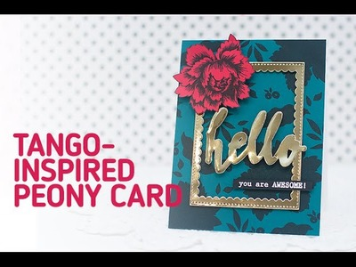 Altenew: How to Make a Peony Card using Solid Stamping