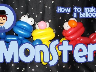 Balloon Tutorial - How to make an Elmo inspired balloon