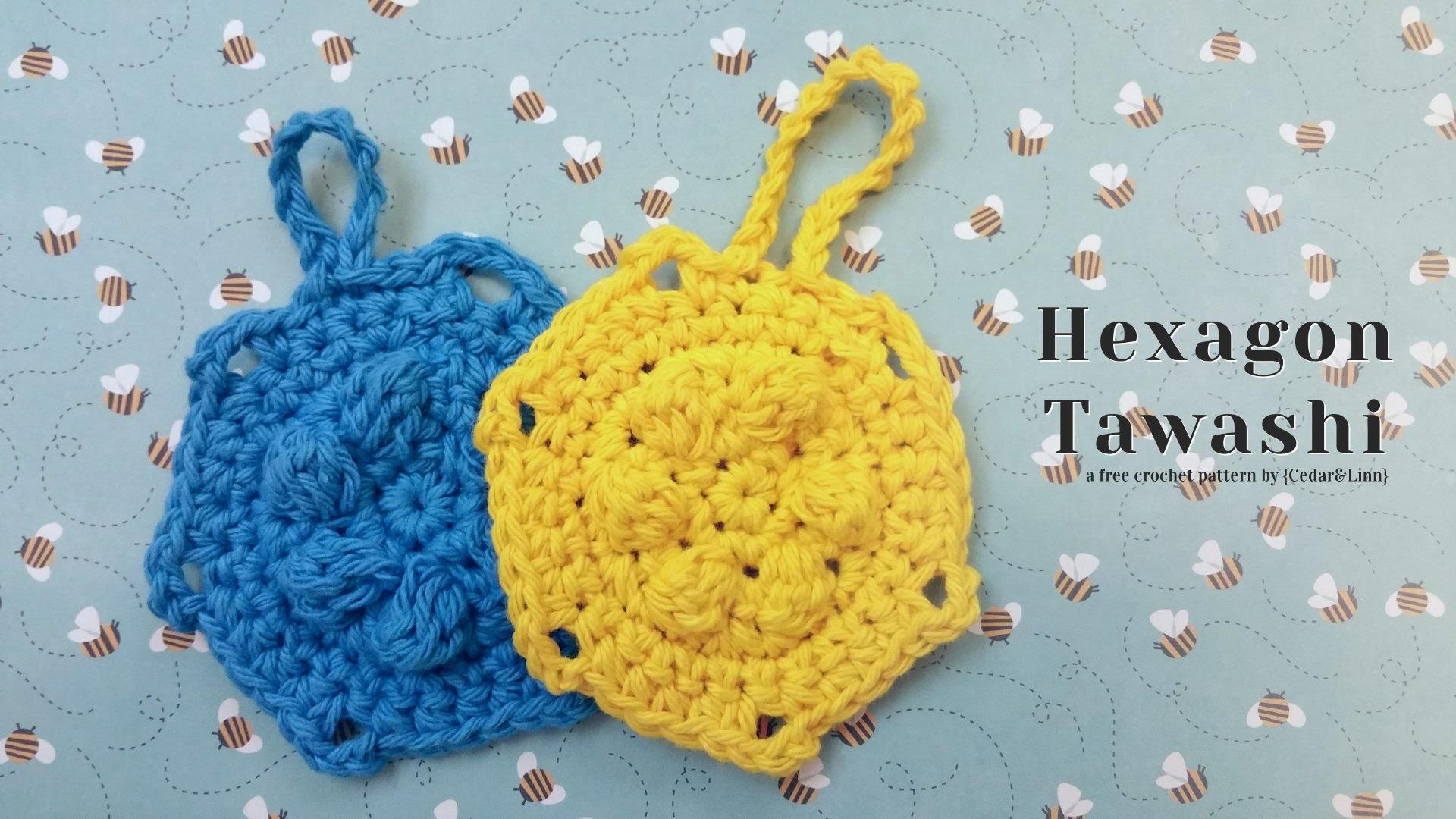 Crochet Hexagon Tawashi Pattern