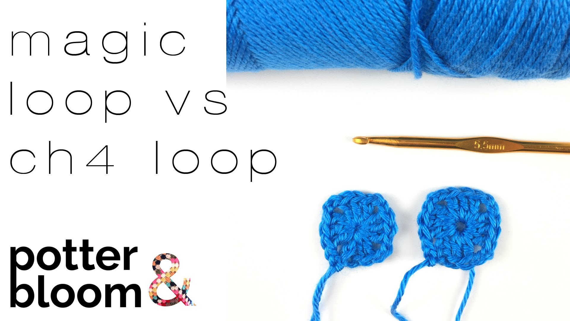 Crochet: Magic Loop vs Chain Four Loop