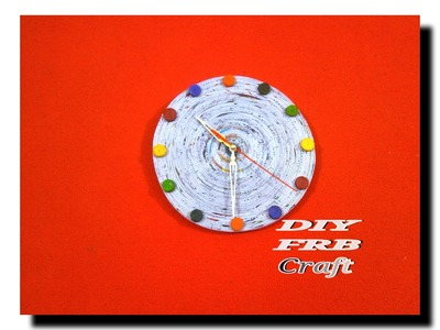 DIY | HOW TO Make A WALL CLOCK By Using News Paper|Craft