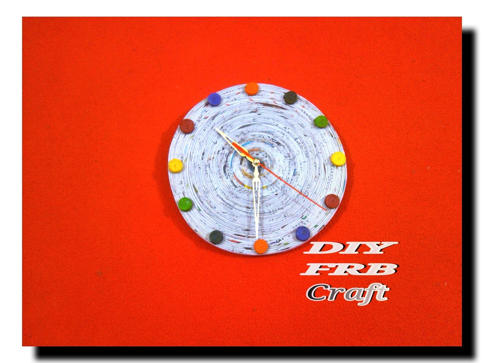 Diy How To Make A Wall Clock By Using News Papercraft