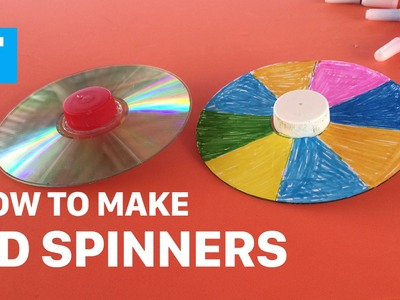 DIY - How To Make Toys For Kids - How To Make CD Spinners (Demo) - Diy Caft For Children - HuTaNaTu
