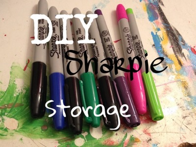 DIY sharpie display. holder how to cheap & easy organize