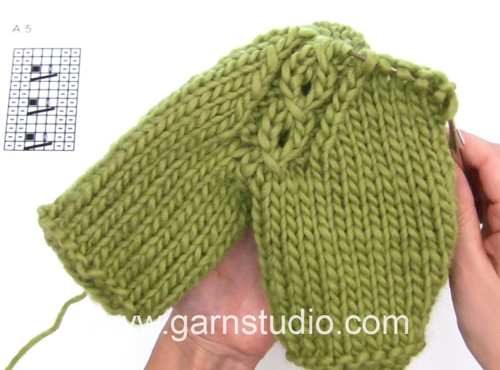 DROPS Knitting Tutorial: How to work raglan with cable