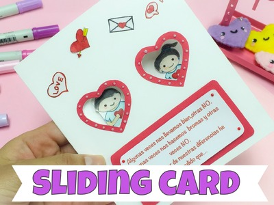 EASY CRAFTS: how to make an sliding card for Valentines day
