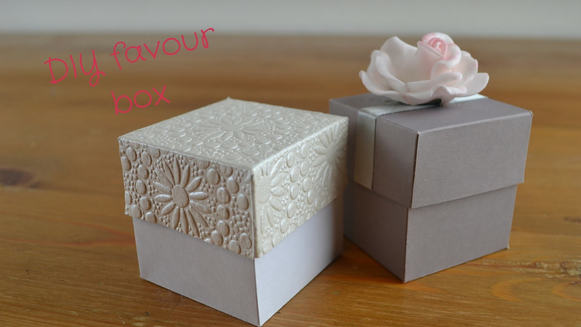 Easy DIY Favour Box:  How to create your own wedding favour boxes