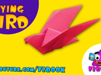 Easy Make Fly Paper Bird - How to Make Origami Paper Folding