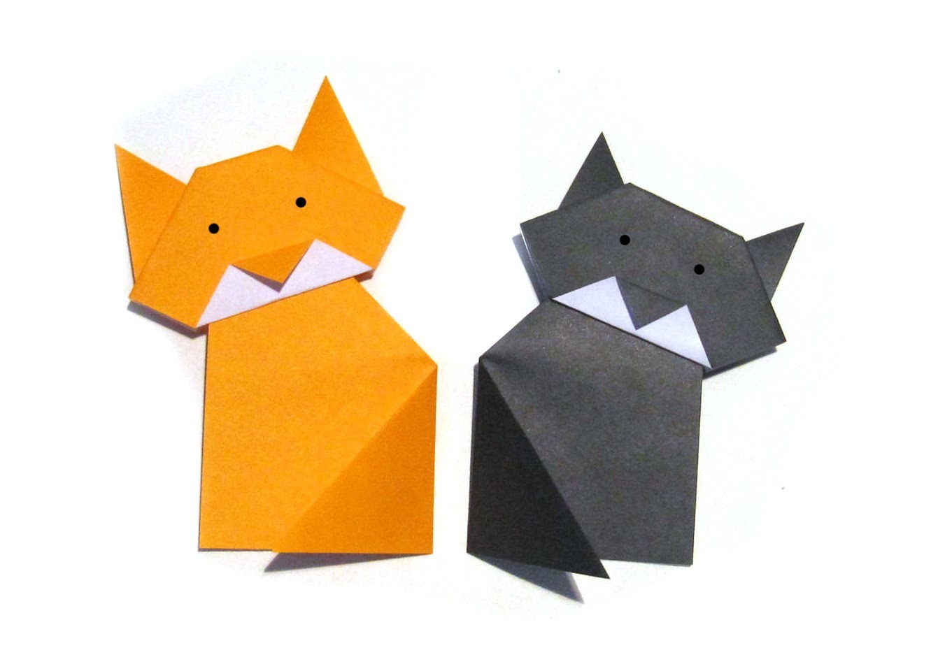 Easy Origami Cat - Easy Tutorial - How to make an origami cat