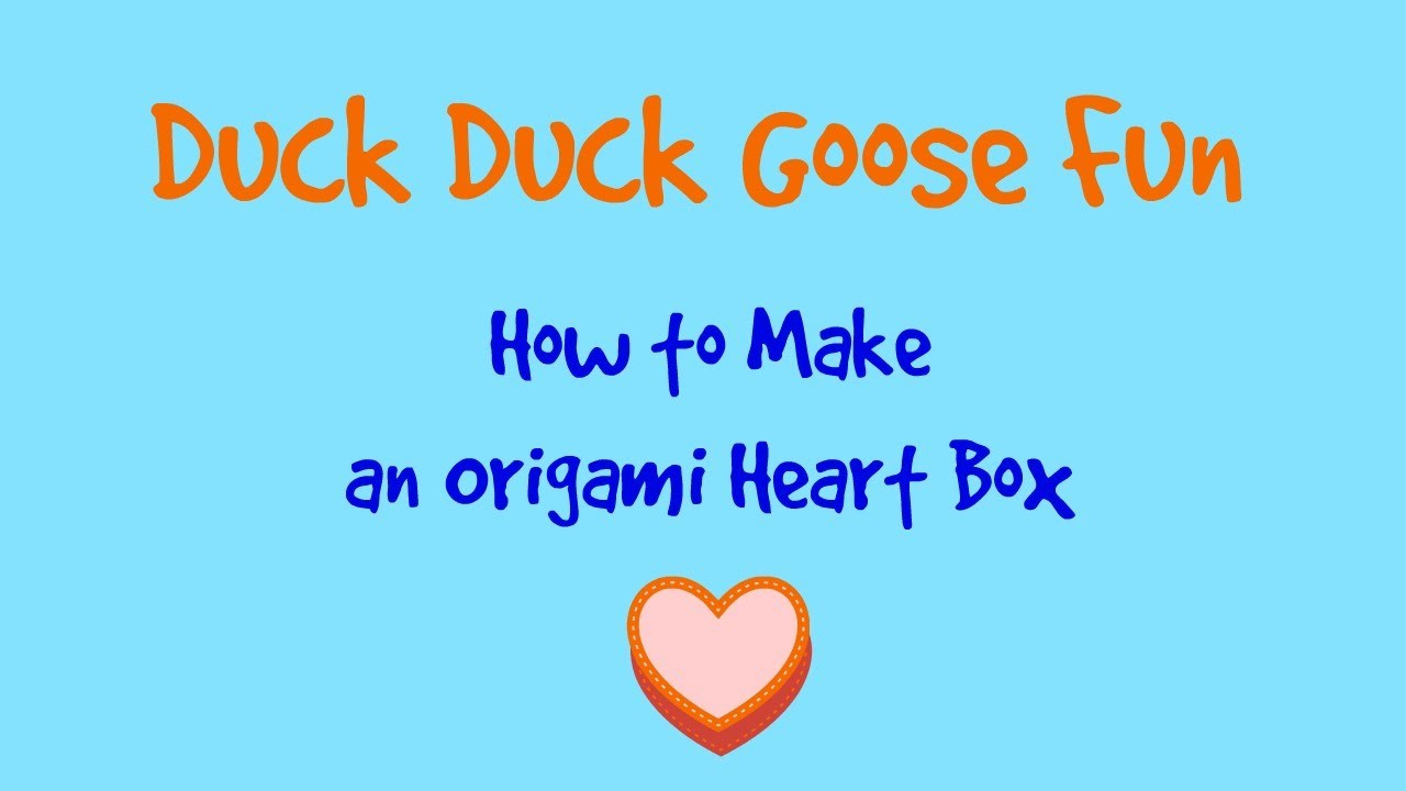 Easy Origami Tutorial: How to Make An Origami Heart Box
