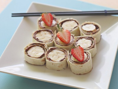 Easy recipe: How to make Nutella and banana sushi