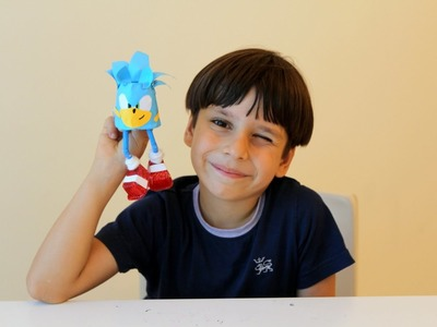 Eco-Makers: how to make Sonic the Hedgehog from plastic cup.