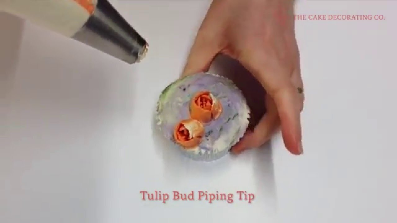 Flower Piping Tip: How to pipe Tulip Buds - Floral Cupcake