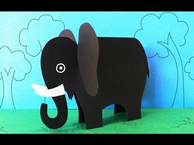 Fun Crafts for Kids : How to Make a Paper Elephant Crafts | Preschool Activities