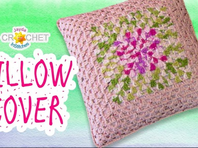 Granny Square Pillow Case, Cover, Sham How-To