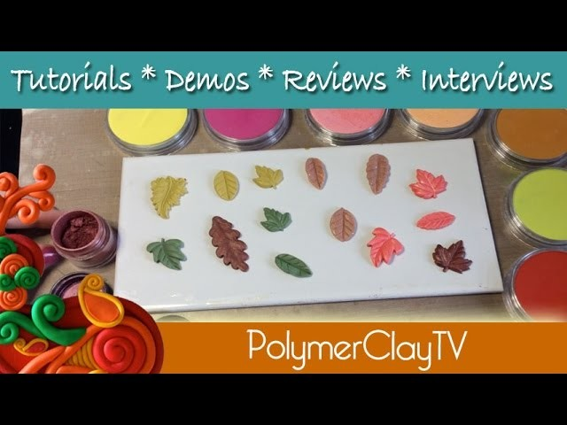 How to create a leaf Bunting using polymer clay a great project with kids