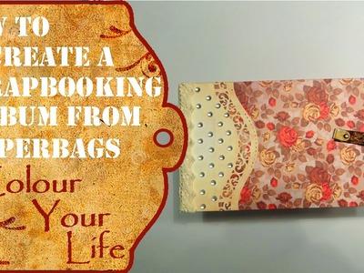 How to create a paperbag scrapbook album
