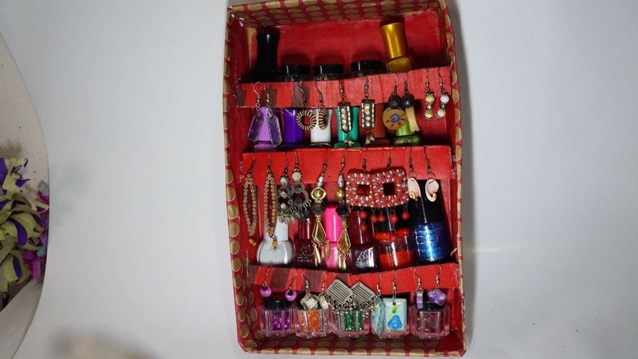 How To Create A Recycled Jewelry And Nail Polish Holder - DIY Crafts Tutorial - Guidecentral