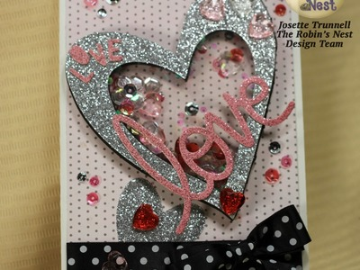 How to Create A Window Shaker Card with Fun Foam by Josette Trunnell