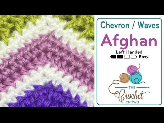 How to Crochet A Wave Afghan: HDC Wave Left Handed