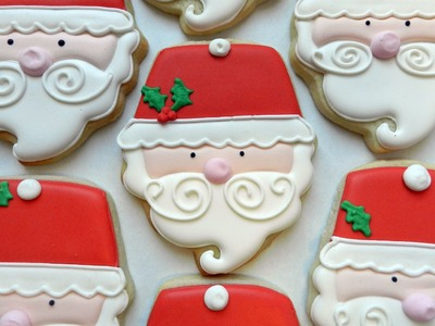 How to Decorate a Santa Cupcake Cookie