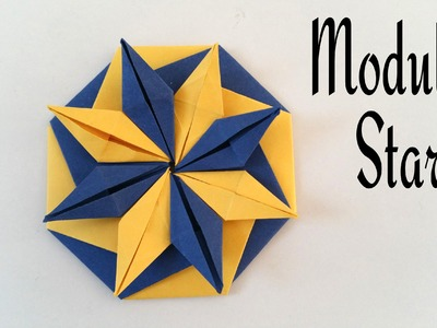 """How to do a Easy Paper """"Modular star of Vibrance"""" - Decorative Origami Tutorial"""