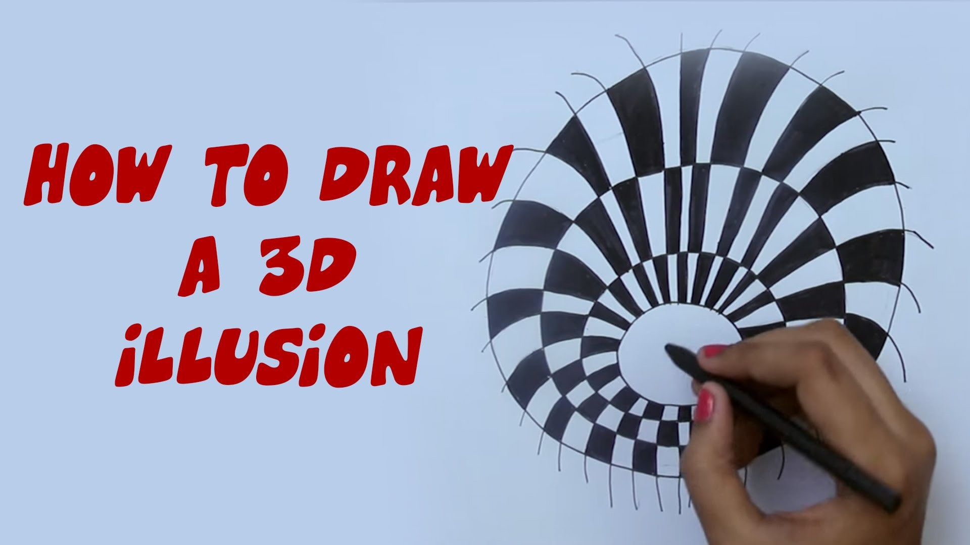 How To Draw A 3D Illusion | Easy Step By Step Ways To Learn Drawing