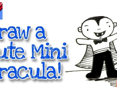 How to draw a cartoon Mini Dracula Real Easy