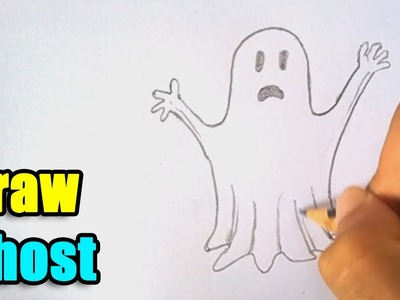 How to Draw a Ghost - Try it on this Halloween