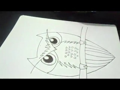 How To Draw An Owl Step By Step.