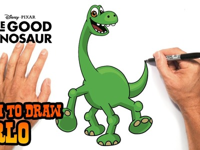 How to Draw Arlo (The Good Dinosaur)- Easy Art Lesson