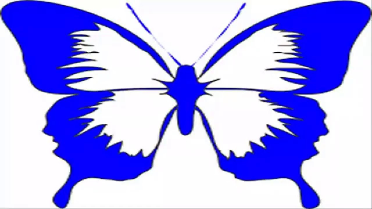 How To Draw Blue Butterfly Clip Art Cartoon
