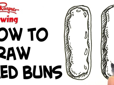 How to Draw Iced Buns in the shape of an 11