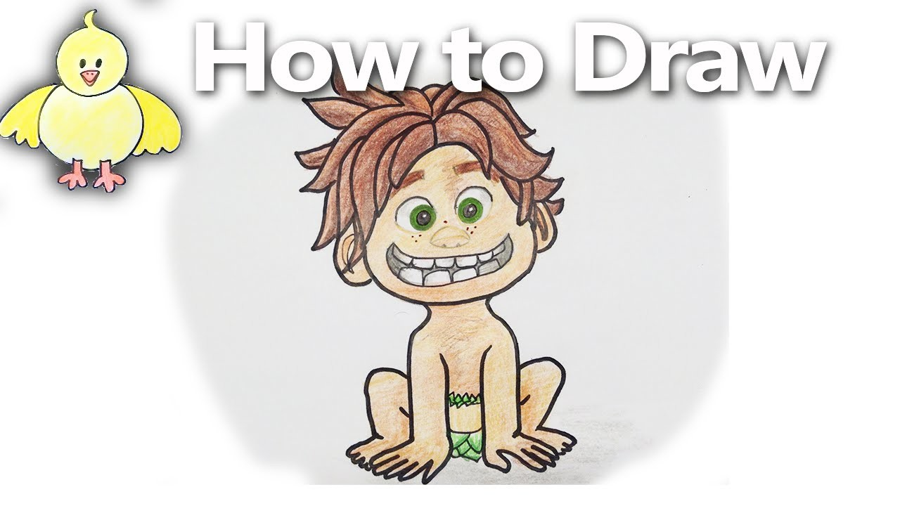 How to Draw  Spot from The Good Dinosaur  Step by Step