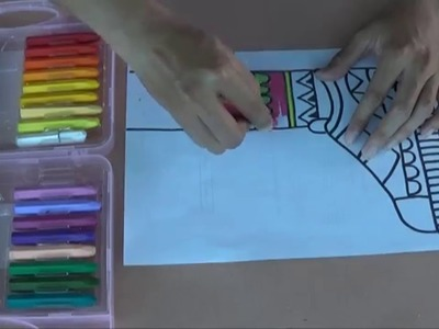 How to draw zentangle for kid