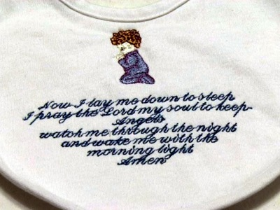 How to embroidery small lettering in multi-lines