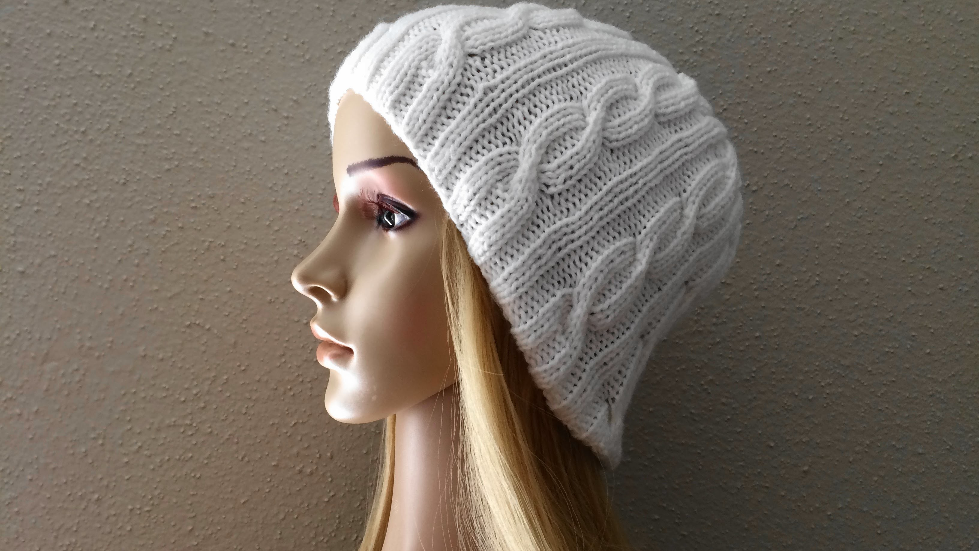How To Knit A Cable Hat, Lilu's Knitting Corner Video # 32
