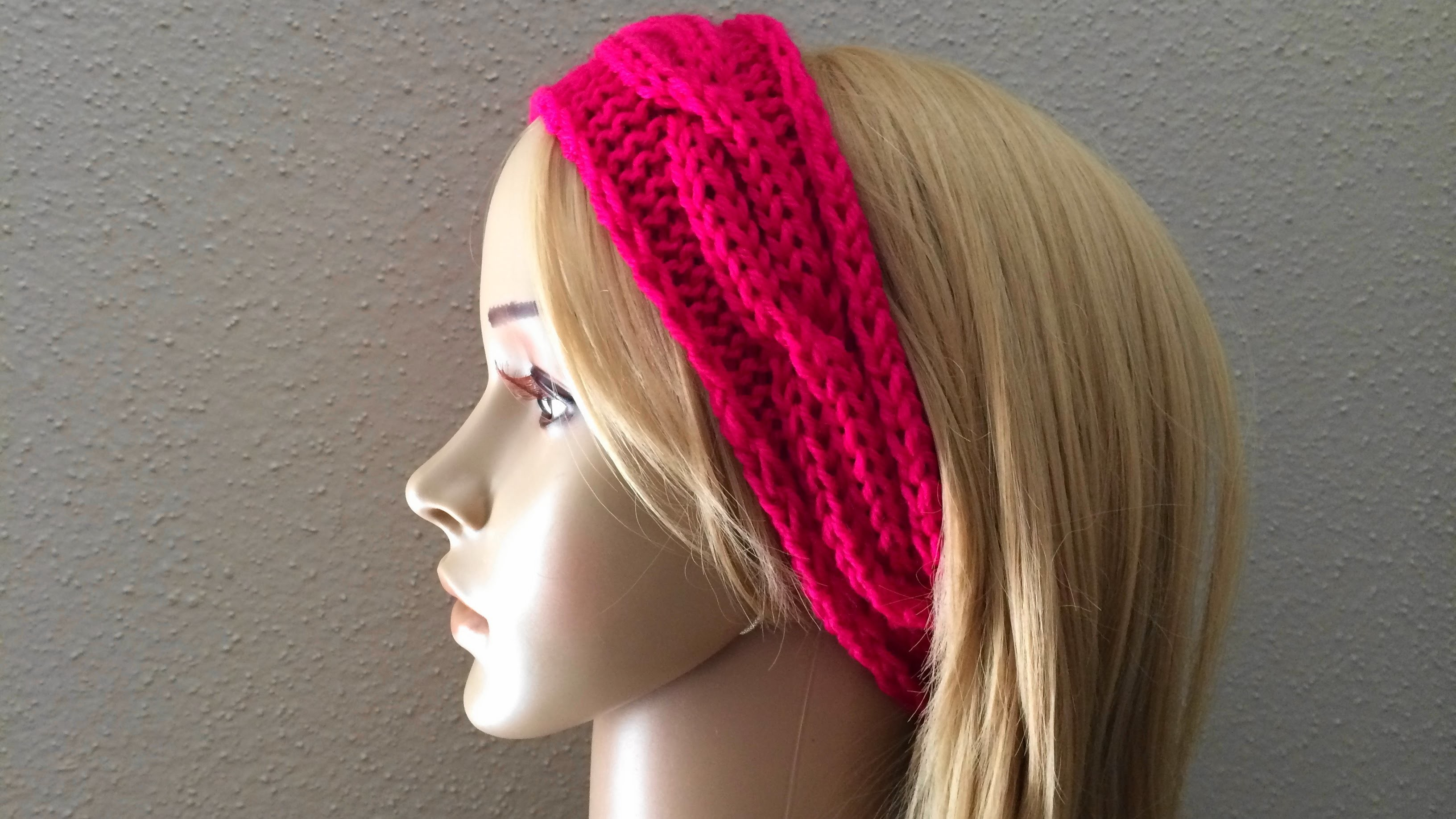 How To Knit A Cable Headband, Lilu's Knitting Corner Video # 38