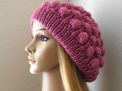 How To Knit A Raspberry Hat, Lilu's Knitting Corner Video # 58