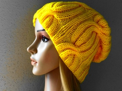 How To Knit A Ribbed Cable Hat, Lilu's Knitting Corner Video # 25